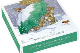 Card Set (Boxed): Christmas Cards - Bunnies In The Snow