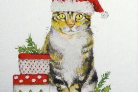 Paper Napkins (Lunch): Christmas -Christmas Kitty