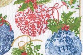 Paper Napkins (Lunch): Christmas - Porcelain Ornaments