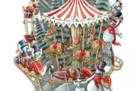 Card (3D Pop up): Christmas - Snow's Carousel