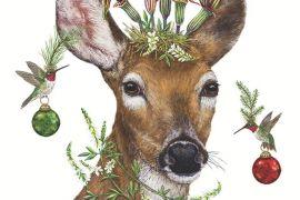 Paper Napkins (Lunch): Christmas- Vicki Sawyer Christmas Princess Deer
