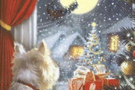 Paper Napkins (Lunch): Christmas - Dog is Waiting for Christmas
