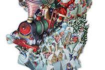 Card (3D Pop up): Christmas - Santa's Express