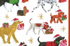 Paper Napkins (Lunch): Christmas - Christmas Delivery White