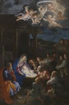 Card (Christmas): Guido Reni - The Adoration of the Shepherds