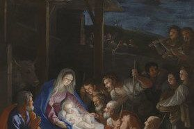 Card (Christmas): Guido Reni - The Adoration of the Shepherds