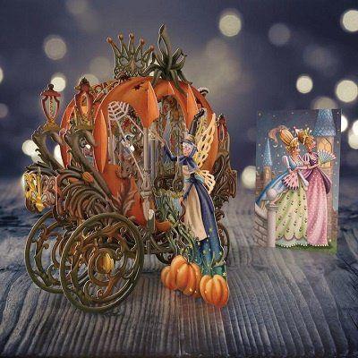 Card (3D Pop up): Cinderella's Carriage