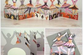 Card (Die-cut tri-fold): Dancers