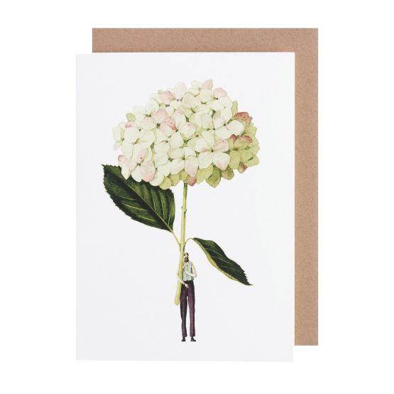 Card (Laura Stoddart):Green Hydrangea