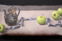 Cushion: Anita Mertzlin - Limited Edition Apple & Ribbon Bolster