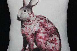 Cushion: Anita Mertzlin - Cranberry Willow Rabbit