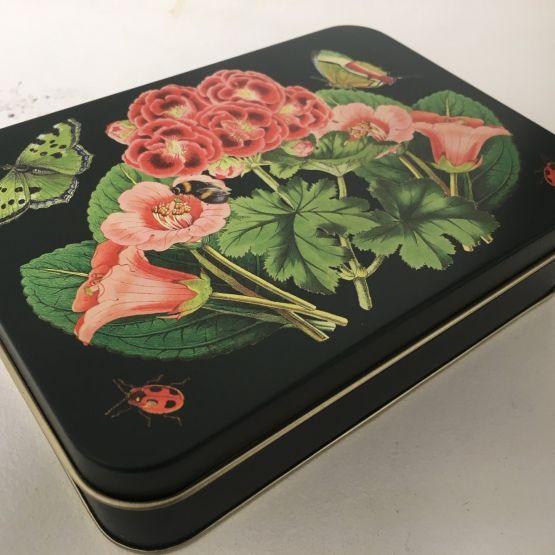 Tin (Madame Treacle): Small Rectangular Tin Midnight Botanicals