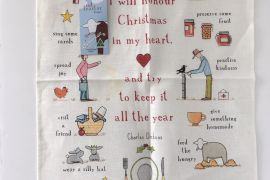 Tea Towel (Red Tractor Designs): Christmas in my Heart