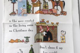 Tea Towel (Red Tractor Designs): Christmas Mess - Limited edition