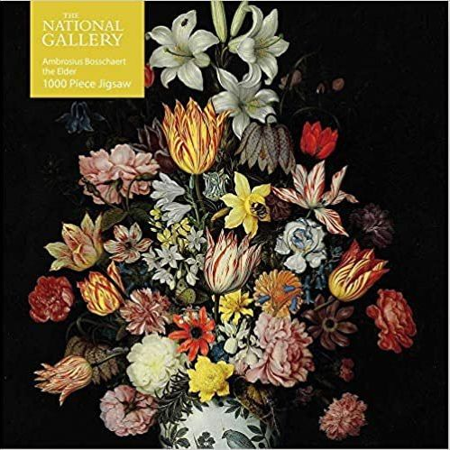 Jigsaw (1000 piece square puzzle): Bosschaeart the Elder: A Still Life of Flowers