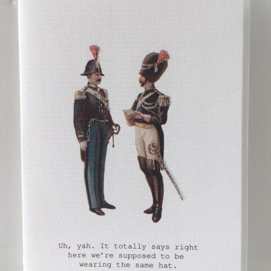 Card (Tokyo Milk): Men with Hats