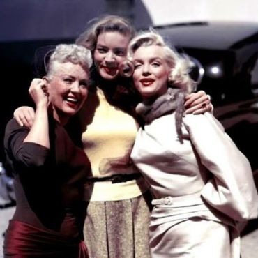 Peter McNeil_Betty Grable, Lauren Bacall and Marilyn Monroe pose for a portrait on the set of the 20th Century-Fox film 'How to Marry a Millionaire' in 1953 in Los Angeles, California. (Earl Theisen Getty Images)