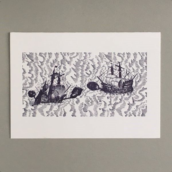 Card (Keyhole Collection): Battle at Sea