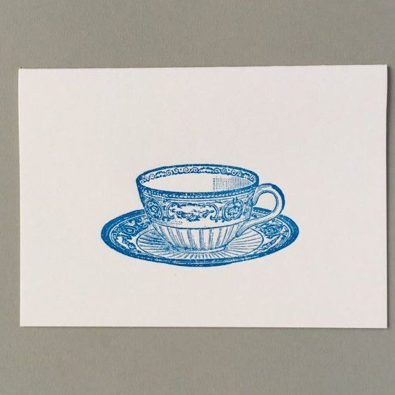 Card (Keyhole Collection): Wedgewood Tea Cup
