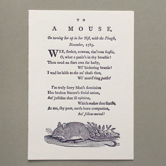 Card (Keyhole Collection): To a Mouse