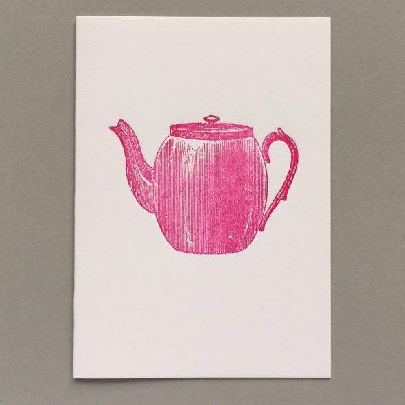 Card (Keyhole Collection):  Tea Pot