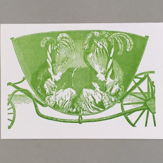 Card (Keyhole Collection): Ladies in a carriage