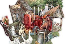 Card (3D):The Farmyard
