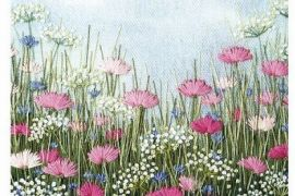 Card (Jo Butcher): Pink Embroidery