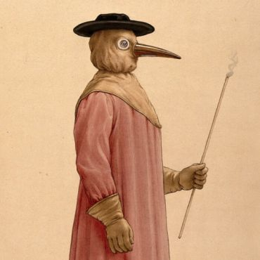 Costume of a plague doctor