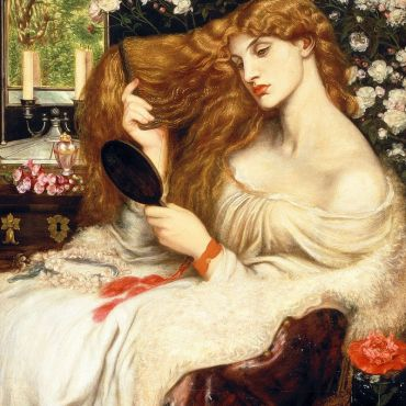 Dante Gabriel Rossetti (English, 12 May 1828– 9 April 1882) Lady Lilith, 1866-1868 (altered 1872-1873) oil on canvas | 965 × 851 mm (38.0 in × 33.5 in) Samuel and Mary R. Bancroft Memorial, 1935 collection of Delaware Art Museum, 1935-29, Wilmington, Delaware