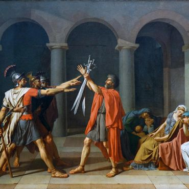 Jacques-Louis-David-The-Oath-of-the-Horatii-