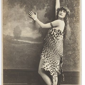 Dulcie Deamer in leopard skin costume (worn to the Artists Ball)