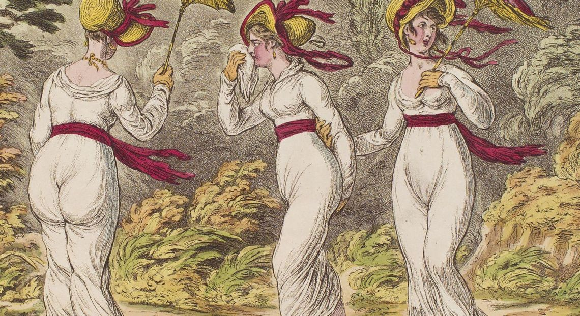 The graces in a high wind by James Gillray EDIT
