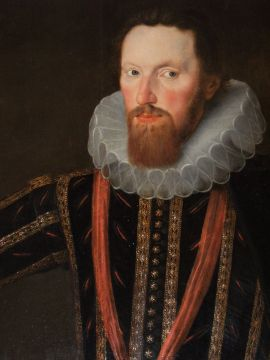 attributed to Robert Peake, (English, circa 1551-1626) portrait of Edward Lord Montagu, 1st Lord Montagu of Boughton, 1601 The Johnston Collection (A0951-1989, Foundation Collection) image © The Johnston Collection, Australia