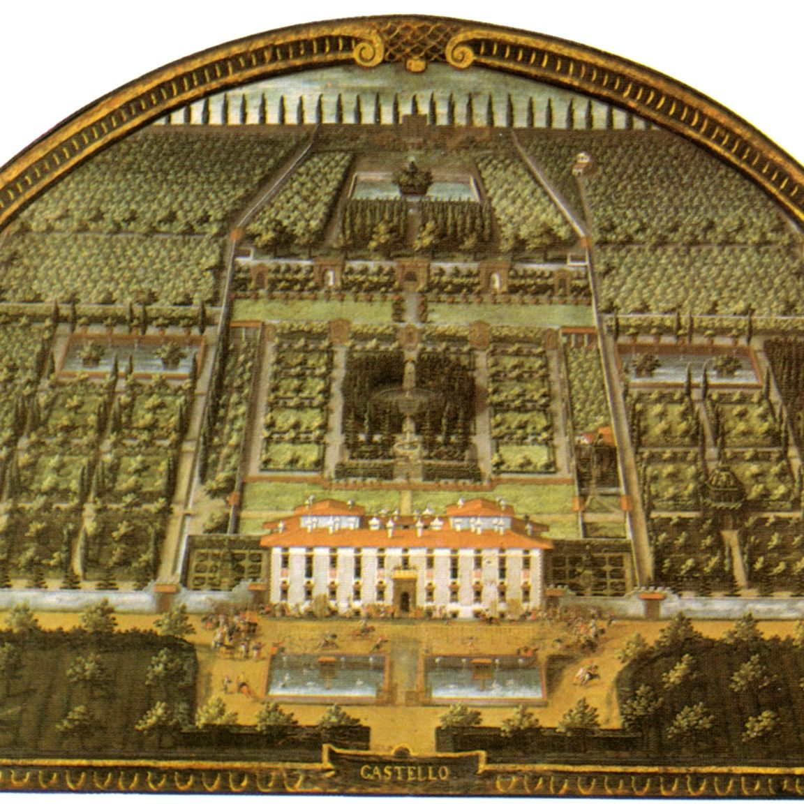 Lunette of Villa di Castello (as it appeared in 1599)