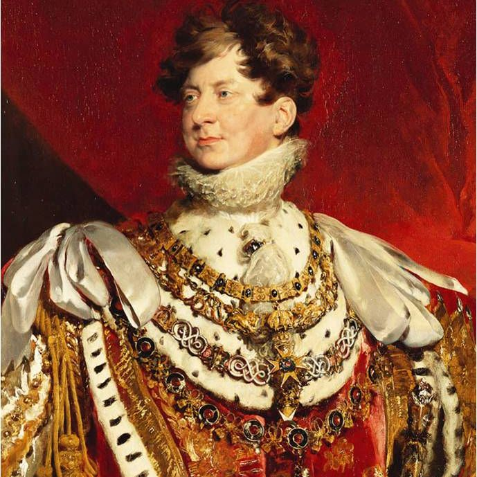 King George IV - portrait in 1821 (age 59) on the occasion of his Coronation, by Sir Thomas Lawrence