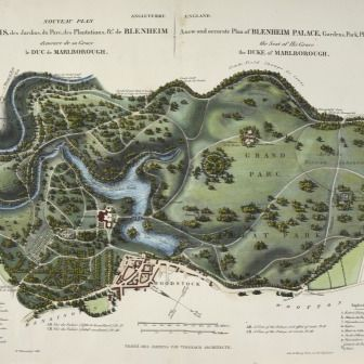 A_new_and_accurate_plan_of_Blenheim_Palace_resize