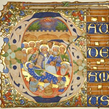 11. Historiated initial from a gradual