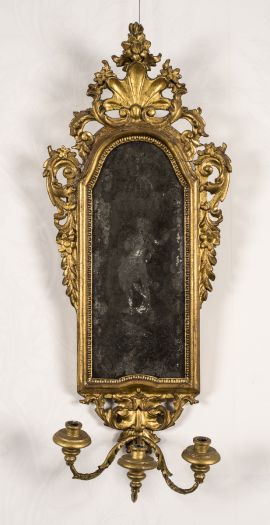 maker unknown mirror | girandole (two), Italy, circa 1760 The Johnston Collection (A0392-1989, Foundation Collection) © Robert Colvin & The Johnston Collection, Australia