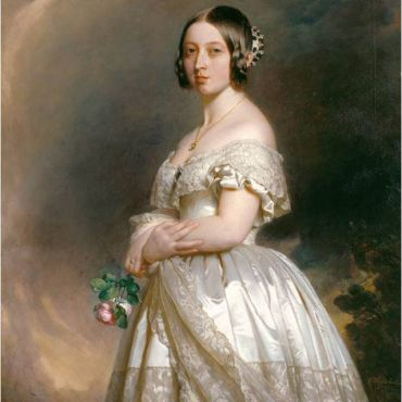 Queen Victoria (age 23), portrait by Franz Winterhalter, 1842.