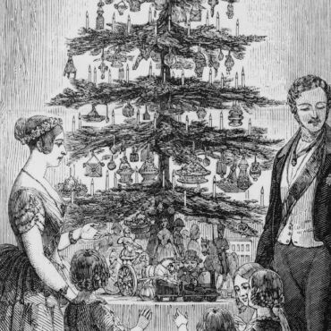Queen Victoria and Prince Albert gathered around their Christmas tree in 1848crop