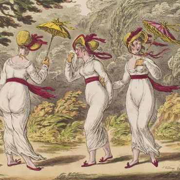 The graces in a high wind by James Gillray