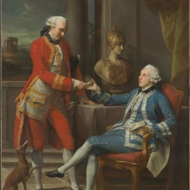 Batoni  Sir Sampson Gideon and an unidentified companion 1767