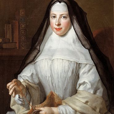 portrait of Frances Woollascott, an Augustinian Nun