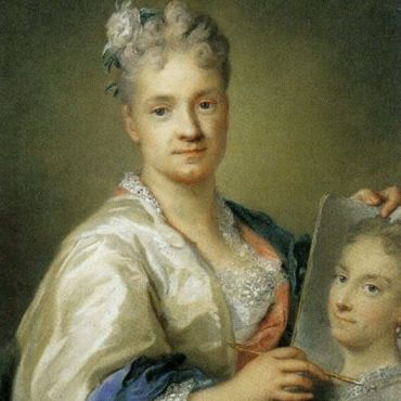 Self-portrait-holding-a-portrait-of-her-sister