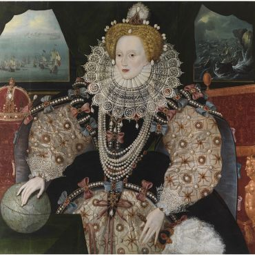Portrait of Elizabeth 1st Armada Portrait after conservation