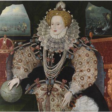 Portrait of Elizabeth 1st Armada Portrait after conservation