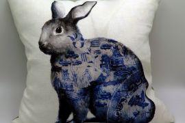 Willow Rabbit cushion