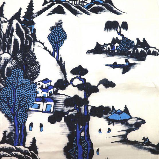Tea Towel TJC Blue Willow